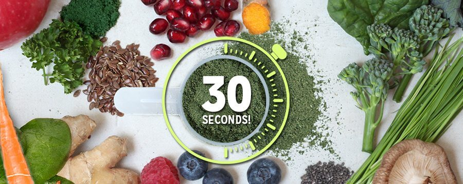 44 Organic Ingredients 30 Seconds
