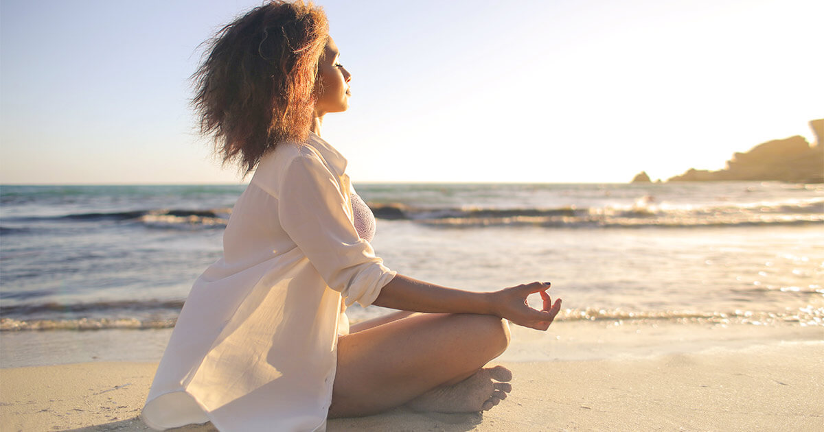 Woman getting vitamin D from sun for breast cancer prevention